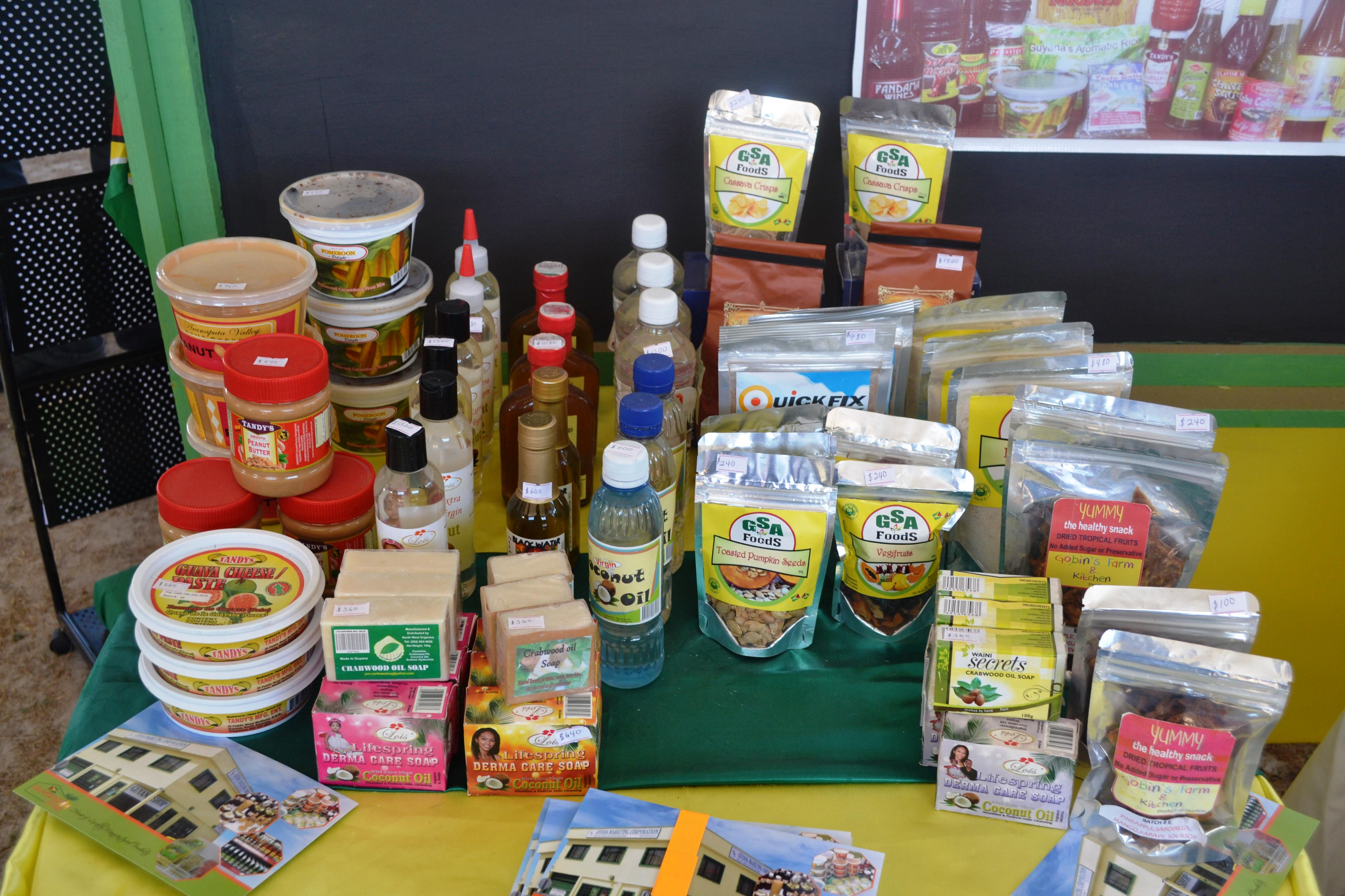 Products on display at the Rupununi Agri Expo