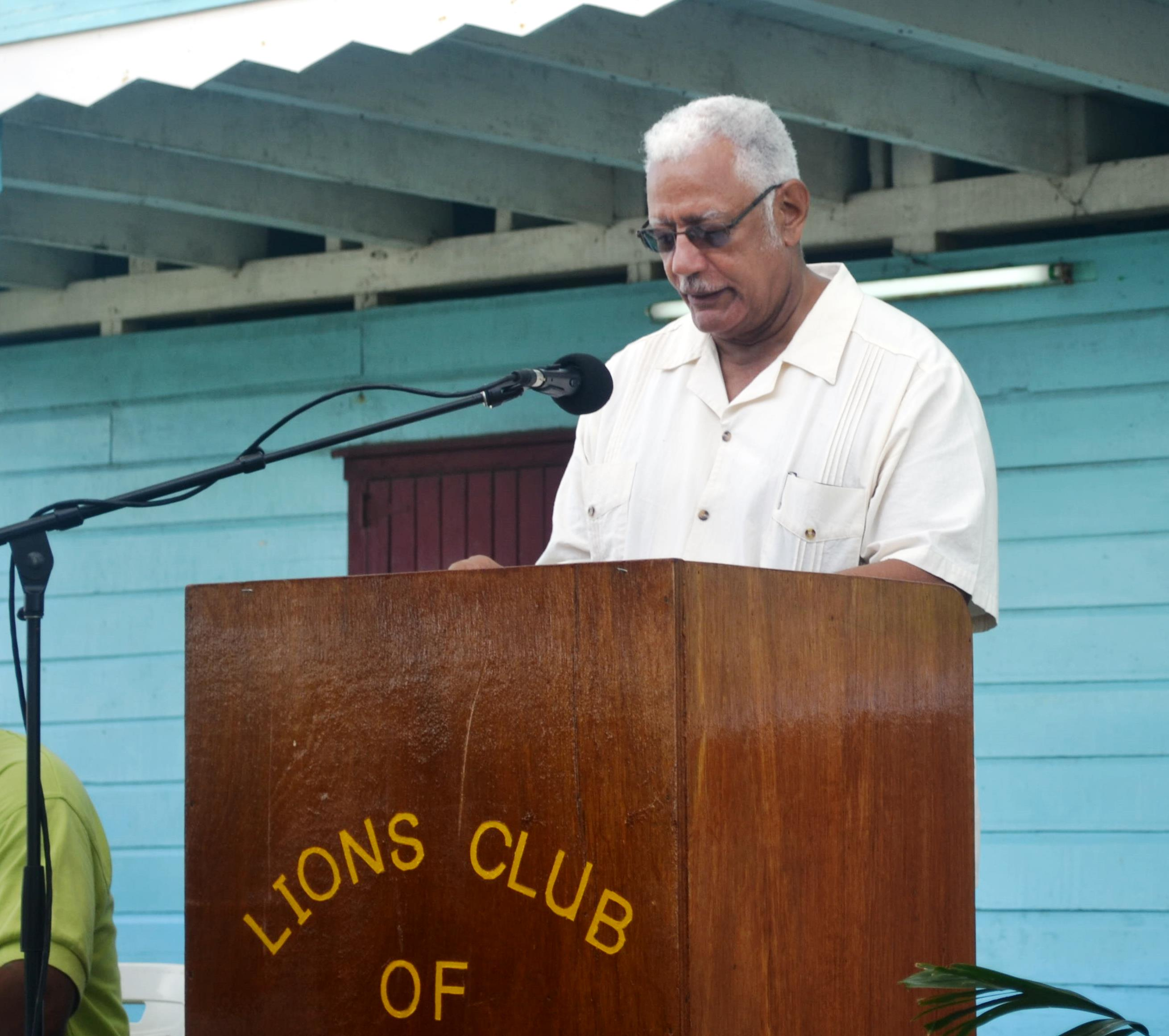 Agriculture Minister Noel Holder  while giving remarks at the One Health Programme Project launch