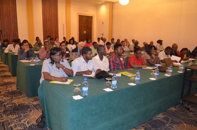 A section of the gathering at the National Consultation on Climate Change at the Pegasus Hotel, Kingston