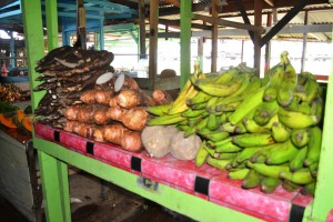 Ground provision for sale at Mon Repos Market