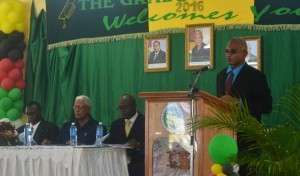 CEO of GSA Mr Brian Greenidge while delivering the CEO's Report