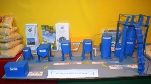 GRDB rice husk gasification plant model on display at the Berbice Expo