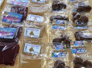 Locally produced sugar cake, fudge and tamarind balls