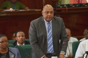 Minister of Natural Resources Raphael Trotman in the National Assembly
