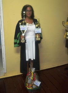 One of the most outstanding female graduates, Ms Anisa Mancey. She won all the special awards for her faculty