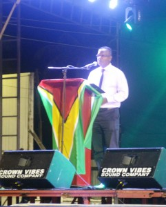 President of the Central Corentyne Chamber of Commerce, Mr. Mohamed Raffik while delivering remarks at the opening of the Berbice Expo