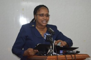 annette-ferguson-minister-within-the-ministry-of-public-infrastructure-addressing-stakeholders-present-at-the-handing-over-the-final-report-on-project-georgetown
