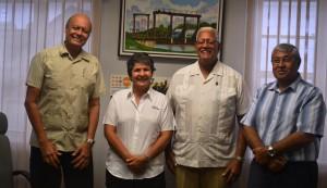L-R PSC Members, Vickram Oditt Annette Arjune, Agriculture Minister, Noel Holder and CEO of GuySuCo, Errol Hanoman