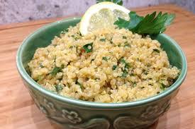 Quinoa prepared as a substitute for rice