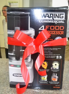 The food processor which was donated