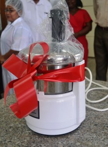 The juice extractor which was donated