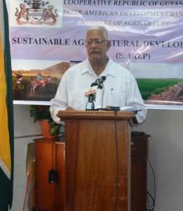 Agriculture Minister, Honourable Noel Holder