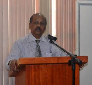 Governor of the Bank of Guyana, Dr. Gobind Ganga