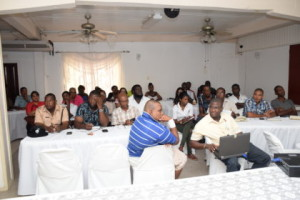 Some the stakeholders in attendance