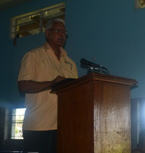 Minister Holder while delivering the feature address