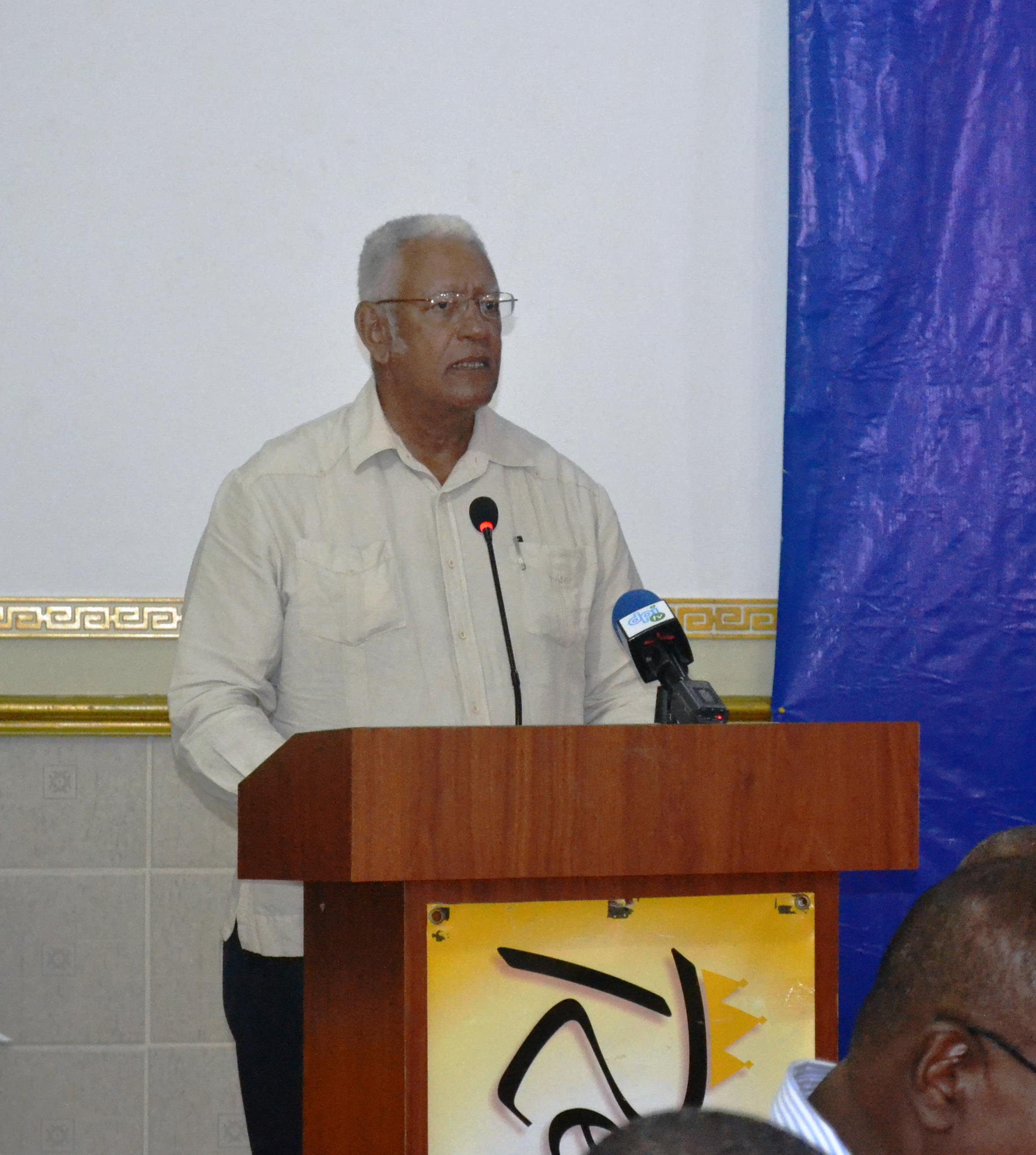 Agriculture Minister, Noel Holder