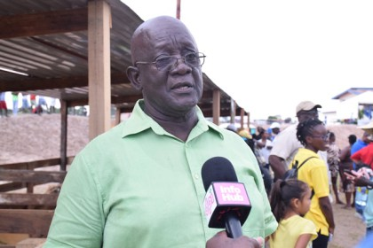 Chairman of the Guyana Swine Producers Association, Eric Anderson.