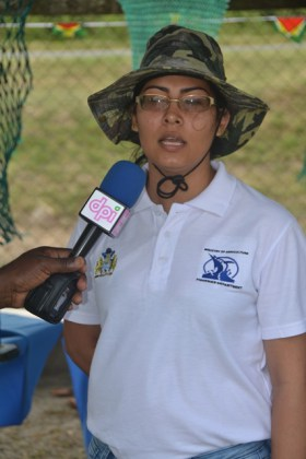 Fisheries Officer with responsibility for aquaculture, Nieketa Dookie.