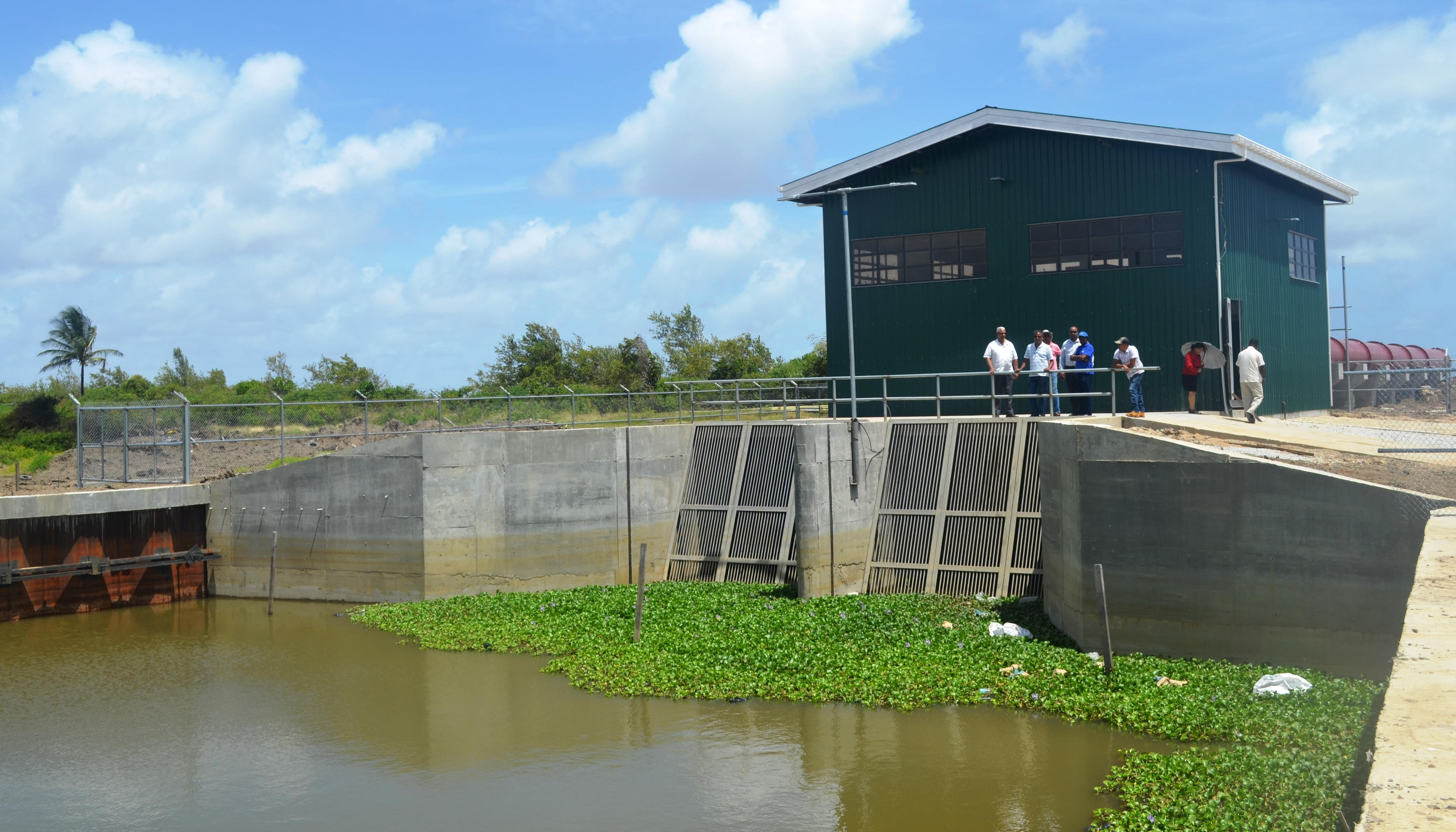 A section of the Pump Station at Lusignan, ECD