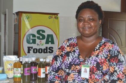 Assistant Manager of Guyana School of Agriculture's Agro-Processing Facility, Stacia McDonald.