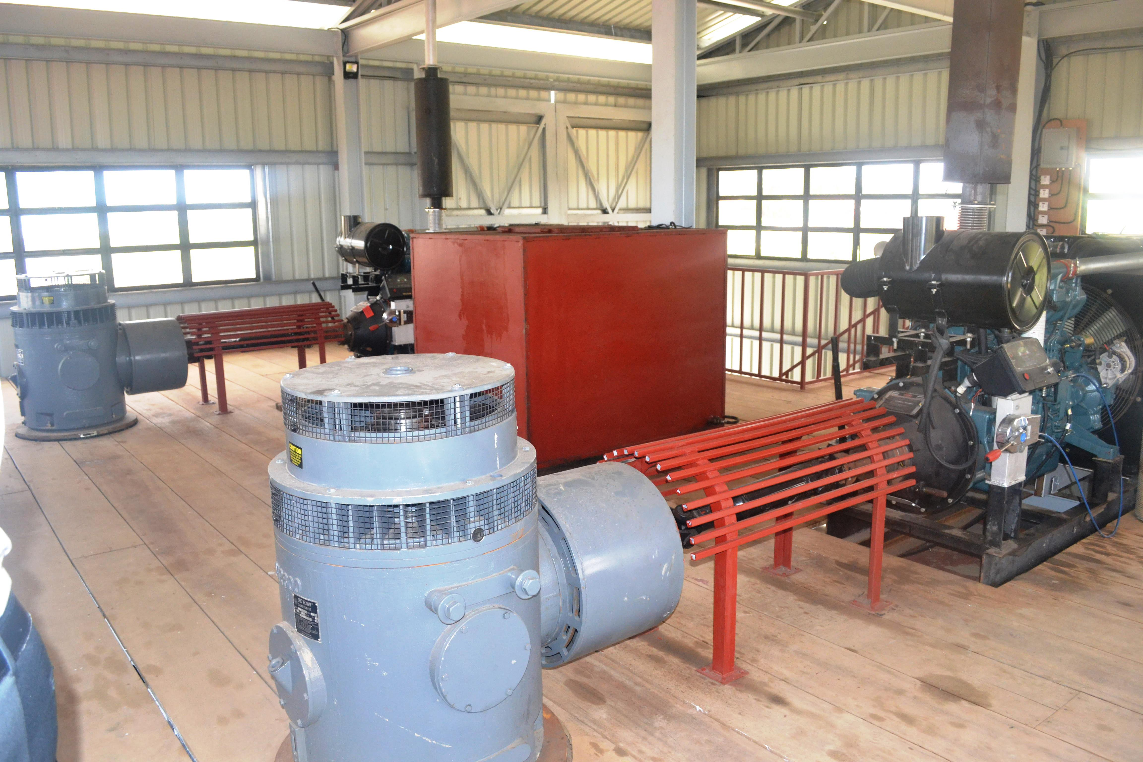 The two pumps installed at the Lusignan Pump Station