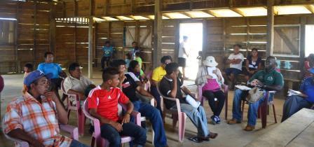 Residents of Kurukabaru Village during the meeting