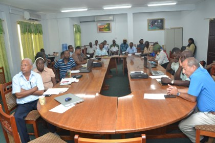 Stakeholders at the workshop