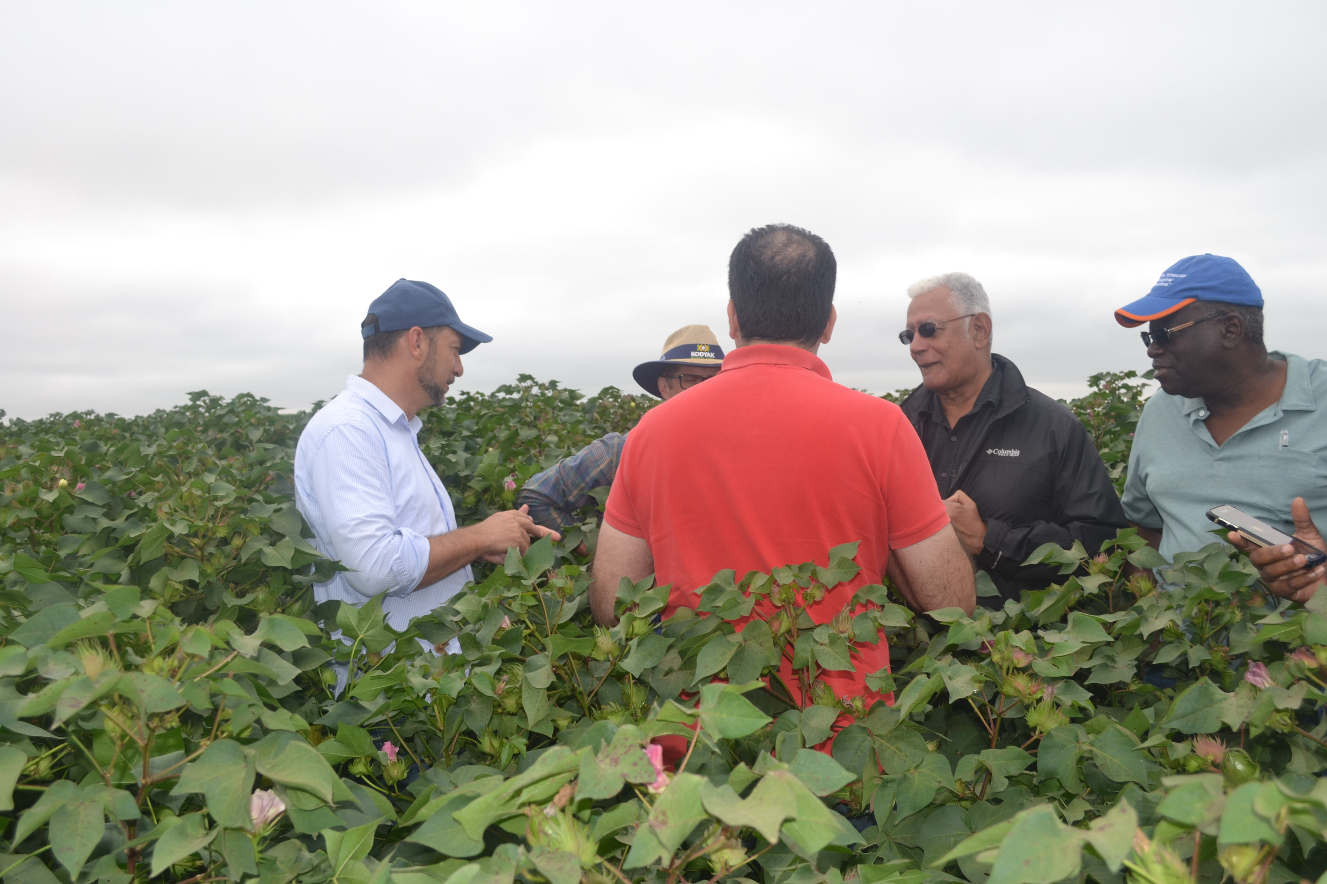 Minister Holder and other members of the team while on one of the farms