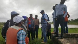 Scenes of the site visited by Region Three Administration, the National Drainage and Irrigation Authority (NDIA) and other stakeholders