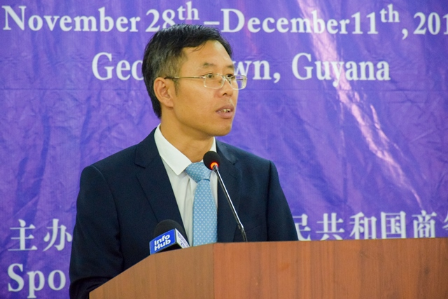 Councilor of the Chinese Embassy in Guyana, Chen Xilai