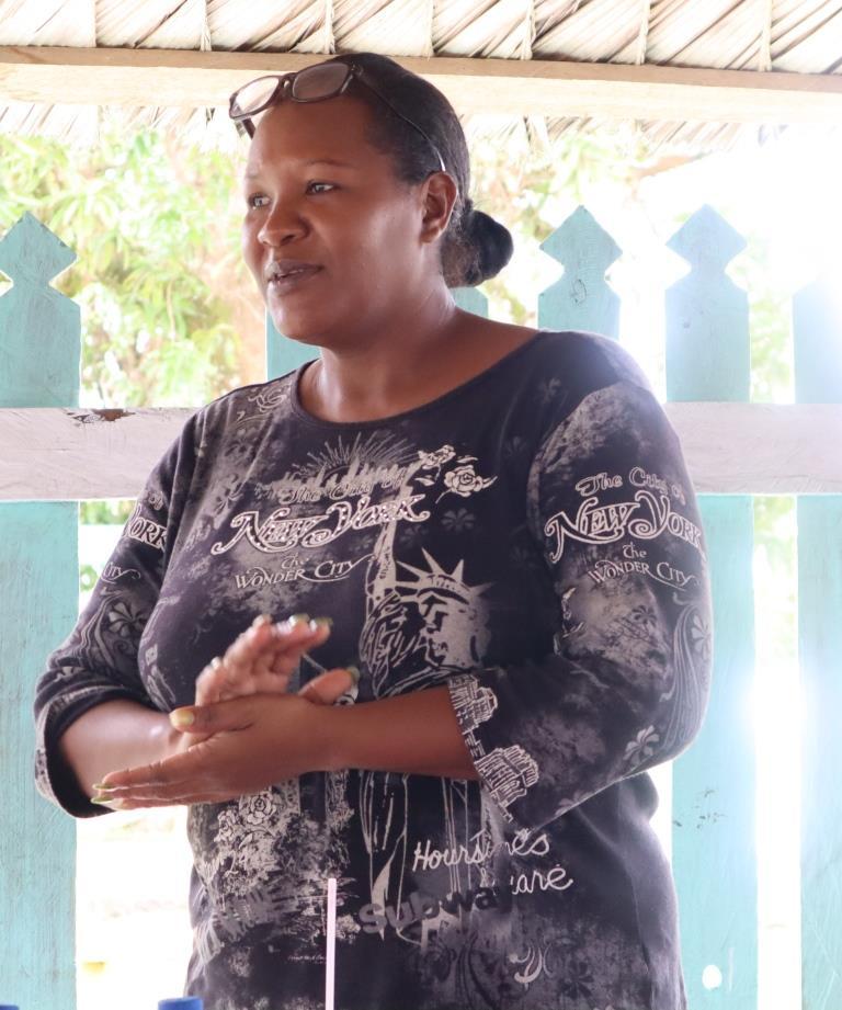 Capoey Village Councillor, Ave Whyte
