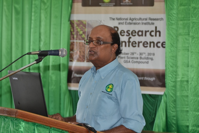 Chief Executive Officer of the National Agricultural Research and Extension Institute, Dr. Oudho Homenauth